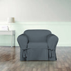 Sure Fit Essential Twill Chair Slipcover with Scotchgard Protection
