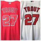 Mike Trout Jersey Los Angeles Angels Red and White Home and Away NWT STITCHED