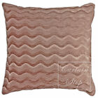 """Waves Heavy Chenille Plain Cushions and Covers 17"""" (43cm), Dusky Blush Pink"""