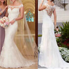 US White/ivory Lace Mermaid Wedding Dress Bridal Gown Sizes 6-18/Custom Size