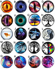 o gauge plugs - Pair of Acrylic ABSTRACT  Picture EAR GAUGES Plugs Tunnels Double Flared Screw