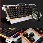 US Panel Luminous Wired Gaming Keyboard and Mouse Sets PC Gamer Aluminum New