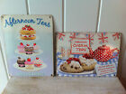 VINTAGE RETRO METAL ADVERTISING CAKE SIGN 'AFTERNOON TEA CREAM TEA' WALL PLAQUE