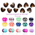 AAA Twins Freshwater Oyster Round Pearl 7-8mm Mixed Color Gift Diy Wholesale Hot
