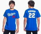 Clayton Kershaw Los Angeles Dodgers #22 MLB Jersey Style Mens Graphic T Shirt on Ebay
