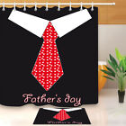 "Father's Day Fabric Shower Curtain Set 71"" Waterproof Bathroom Accessories Liner"