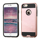 iPhone SE 5s 5 & iPhone 6 6s 6Plus 7 8 Brushed Luxury 2 in 1 Hybrid Case Cover