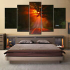 5 pieces Wall Art Picture HD-sunset-in-road for living room