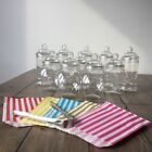 10 Sweet Jars 50 x Bags 2 xTongs Candy Kit Buffet Cart Stall Table Wedding Party
