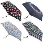 Fulton Flowers & Stripes Open & Close Superslim-2 with Safety Handle Umbrella