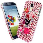 NEW DIAMANTE BLING DIAMOND DISNEY PINK CASE COVER VARIOUS MOBILE PHONES 5 6 7 8