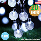 Qedertek Globe Outdoor Solar String Light 20 LED Fairy Bubble Crystal Ball Decor