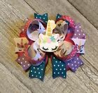 Unicorn Resin Boutique Hair Bow