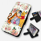 lumia 520 cases and covers - WINNIE THE POOH AND FRIENDS FLORAL FLIP PHONE CASE COVER WALLET CARD HOLDER (F)