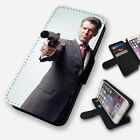 JAMES BOND GUN PIERCE BROSNAN FLIP PHONE CASE COVER WALLET FAUX LEATHER $13.27 USD on eBay