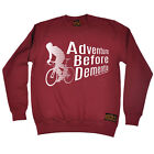 Cycling Sweatshirt Adventure Before Dementia bicycle cycle funny Birthday JUMPER