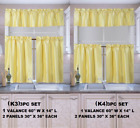 "Внешний вид - 3PC SET KITCHEN WINDOW CURTAIN VALANCE TIER SUN BLOCKING 54"" WIDE 24"" OR 36"" L"