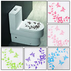 Home style Butterfly Flower Toilet Seat Sticker Bathroom Wall Art Animal Decal