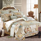 High-end satin cotton Bedding set Luxury Royal duvet cover bed sheet pillowcases image