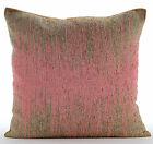 Beaded Ombre Pink Cushion Covers, Art Silk Pillow Covers 16X16 in-Pink Phenomena