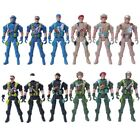 "50pc 3.5"" Plastic Military Soldiers Toy Army Men Figures Accessory Desktop Model"