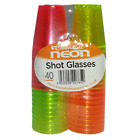 New High Quality Essential Neon 40 Pack Shot Glasses Coloured- Great For Parties