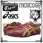 New Asics Onitsuka Tiger Mexico 66 Burgundy Mens Boys Sport Casual Trainer Shoes