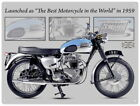 88236 Triumph Bonneville Motorcycle Wall Art Sign Decor WALL PRINT POSTER UK £13.95 GBP on eBay