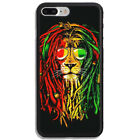 Bob Marley Lion Rasta Reggae Print On Hard Cover Phone Case Protector For iPhone