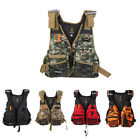 Camo Life Jacket Foam Vest Whistle for Fishing Surfing Sailing Boating Swimming