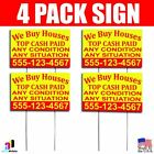 trade your phone for cash - 4X We Buy Houses Top Cash Paid Yard Bandit Signs Your Phone Number Real Estate