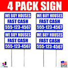 trade your phone for cash - 4X We Buy Houses Fast Cash Bandit Signs Your Phone Number Real Estate Marketing