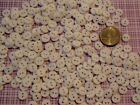 """Hand Dyed 38"""" Round BUTTONS, 2 holes , Assorted colors, Lots of 25, 50, 100"""