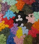 "Hand Dyed 38"" Round BUTTONS, 2 holes , Assorted colors, Lots of 25, 50, 100"