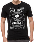 Star Wars T-shirt Han & Chewie's Smugglers Whiskey Black Shirt WHITE PRINT ONLY £11.95 GBP on eBay