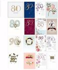 Adult Birthday Greetings Cards 80th 85th 90th 95th 100th Happy Male Female Ages