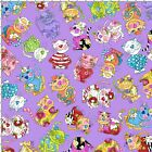 Loralie Calico Cats Fabric Tossed Purple Quilting 100% Cotton BTHY or BTY