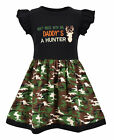 Girls My Dad Hunts Camo Father's Day Dress Boutique Toddler Kids Clothes