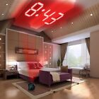 LED Clock with PROJECTOR Nightstand Desk Table Digital Alarm Watch