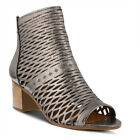 New In Box Spring Step Women's AWOW-PW Pewter Leather Peep Toe Sandals