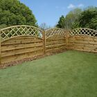 Garden Wooden Fence Panels - Continental - Newark - Pressure Treated 6x4, 6x6