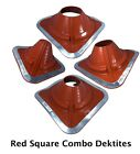 Внешний вид - Dektite High Temperature Red Silicone Combo Pipe Flashing: Metal Roof Flashing