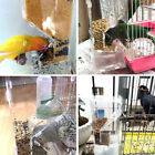 Acrylic Automatic Pet Bird Feeder Parrot Canary Seed Container Clear Dishes