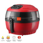 10QT White/Red Digital Electric Air Fryer Oil-Less Griller Calorie Reducer <br/> 8 Cooking Presets✔ Recipes Menu✔ 60 Minute Cook Timer✔
