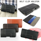 Genuine Leather Belt Clip Holster Flip Case Cover For Samsung Galaxy A8 S9 S8+