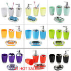 Внешний вид - 4Pcs/set Plastic Bathroom Suit Bath Accessories Cup Toothbrush Holder Soap Dish