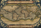 Ancient World Map 1570 Wall Picture Art Poster Wall Decor Print For Living Room