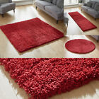 SMALL TO LARGE THICK 5CM PILE RED COLOUR SHAGGY RUG WAREHOUSE CLEARANCE SALE