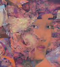 Large oil painting original abstract woman oil on canvas purple fine art signed