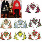 Внешний вид - 1 Set 3D Flower Embroidery Lace Applique Patches Cord Scrapbooking Motif Dress